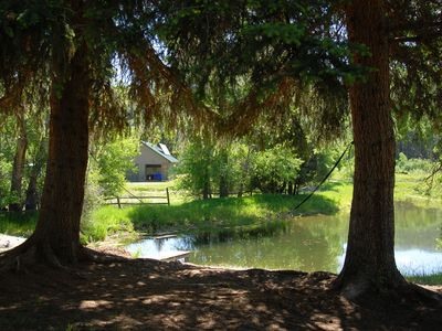 Photo for Pond Cabin on Working Community Ranch & Farm
