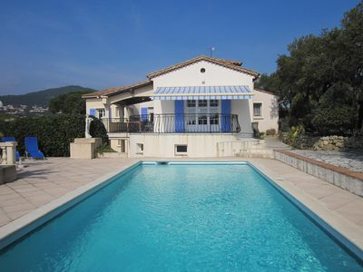 Photo for Villa With Private Pool, Views Of The Sea And St Tropez, Large Garden With Boule