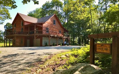 Photo for Signature Ridge Lodge - Beautiful cabin between Banner Elk and Valle Crucis. Game room downstairs!