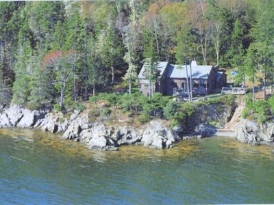 Photo for Oceanfront Cottage, Spectacular Views, 440'  Waterfront, Private, Cozy Escape