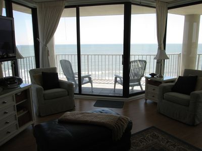 Inside or out , the furniture is comfortable and the views are beautiful.