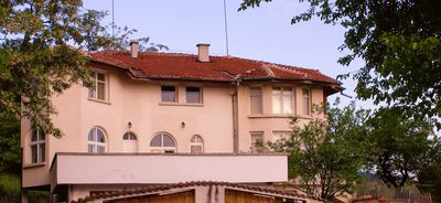Front of the house and roof terrace