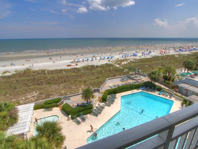 Photo for 3503 SeaCrest -Direct Oceanfront 5th Floor & quick walk to Coligny.