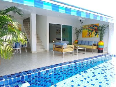 Photo for 3Bed with a private pool at near beach