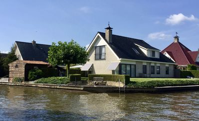 Photo for Beautiful home, 4 - 10 people, on open water. Joure Friesland.