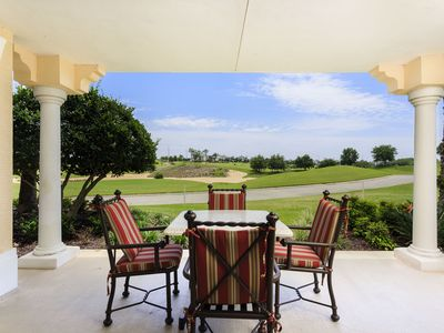 Photo for Centre Court Sun | Luxury Ground Floor Condo with Golf Course Views! 6 Miles to Disney