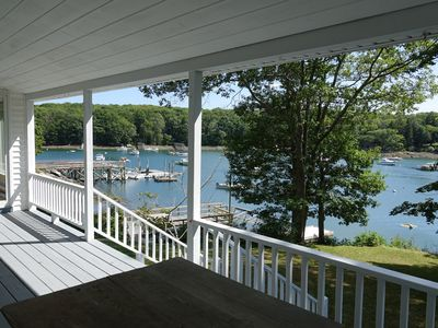 Photo for Classic waterfront cottage in South Bristol, w/ private dock, and porches