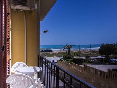 Photo for CaseSicule: Lentisco, Sea View Apartment on the Promenade of Pozzallo, Wi-Fi
