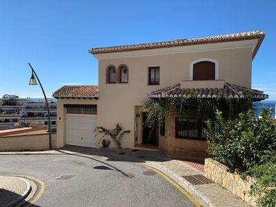 Photo for Beautiful holiday home with private pool and panoramic views of the Mediterranean Sea