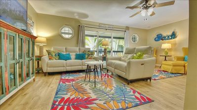 Photo for Renovated Townhome with Beach Equipement, Bikes and Fishing Dock on Intracoastal!