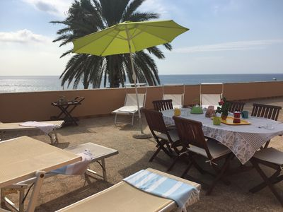 Photo for Villa on the sea, fully furnished and with climatization, with direct access to the beach and panoramic terrace