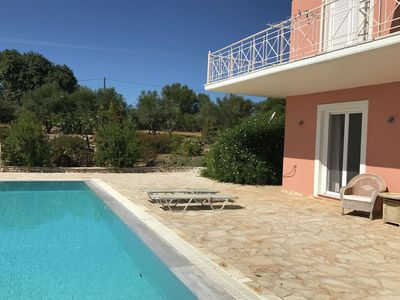 Photo for Luxury villa, with private pool, little child pool, sea view, finiki and kamaria