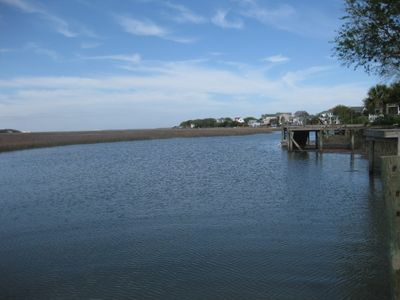 Photo for Folly Beach Riverfront Apartment with boat ramp, kayaks and bikes!