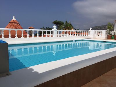 Photo for Holiday house with heated, private pool (> 26 °) and sea view for 1-6 persons
