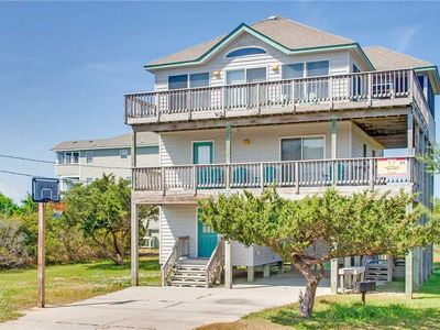 Deeded Sound Access! Oceanview Salvo w/ Game Rm, Screened Porch & Dog-Friendly