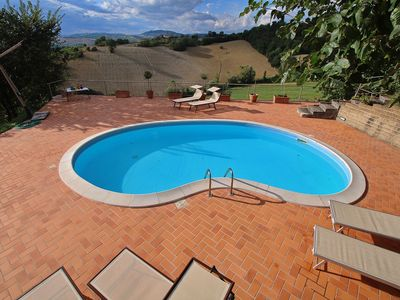 Photo for Villa with private swimming pool, beautiful view and within walking distance of a village