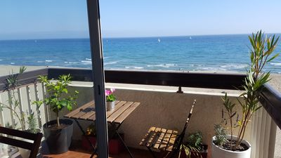 Photo for The sea view the sun a beautiful vacation in the bellevue in canet