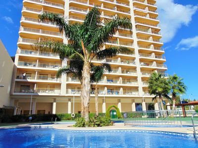 Photo for Ambar Beach 18B - Apartment with pool and sea views in Calpe