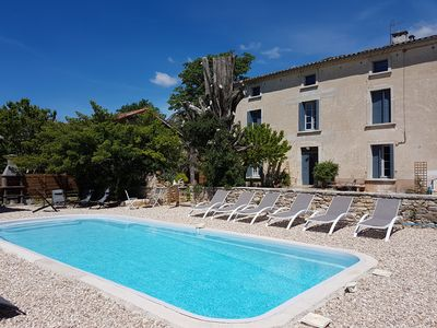 Photo for Les Vignaux, authentic house, private pool