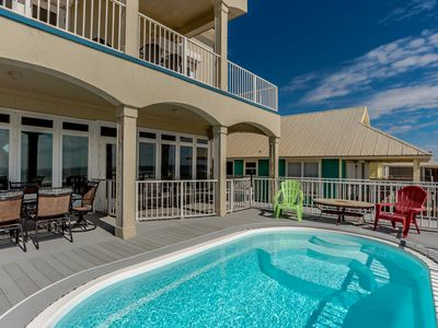 Photo for Beachfront Home in Gulf Shores. Private Beachfront Pool. Multiple Balconies, Spa