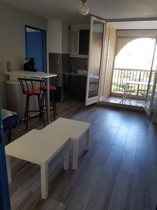 Photo for T2 renovated, furnished beachfront with private parking