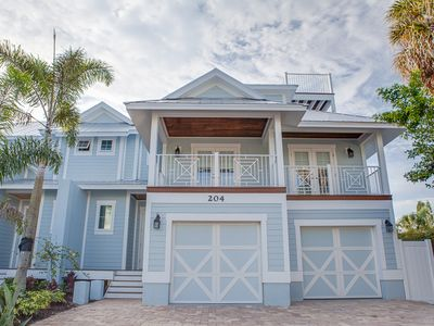 Blue Sky:  Luxury 5 Bdrm/4 bath with heated pool - 1 block to beach!