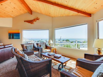 Photo for Open & spacious beach home w/ newly-remodeled kitchen, ocean views, & decks!