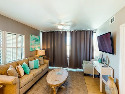 Photo for Conveniently located beachfront condo w/ Gulf view & two resort pools!