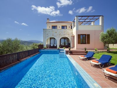 Photo for Villa Katerina:An Ideally located Villa with Heated pool,to explore West Crete!!