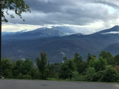 Photo for #5305 - Sleeps up to 9; Awesome views of Gatlinburg, 3 bedrooms w/ loft, 2 baths