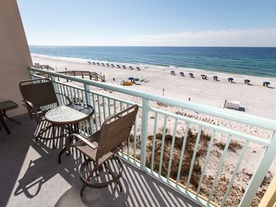 This is your exact view from the private balcony in PI 410 - Enjoy the stunning views of the Emerald Coast from the private balcony or kick back and relax along the water using the complimentary beach service included with your rental!