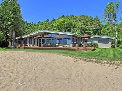 Photo for *NEW LISTING* 209' Fabulous Private Beach On Crystal Lk. Beautiful home!!