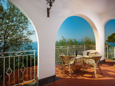 Photo for elegant villa near Sorrento, 300 meters from the sea with breathtaking views of Capri