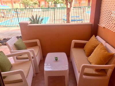 Photo for La Caleta (Parques Holandes): Beautiful apartment with 3 pools & free WiFi