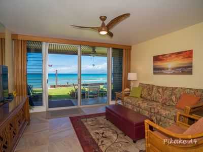 Photo for THE PIKAKE/MAUI MAGIC BEACHFRONT Condo 20 Feet to the Ocean,  New Owners/Remodel