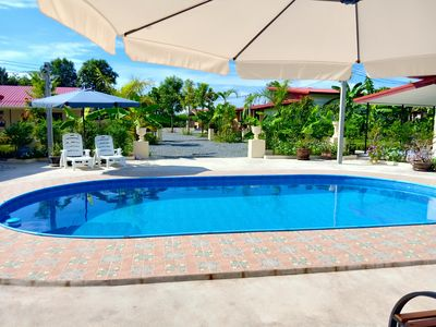 Photo for Private 2 bedroom villa with Swimming pool Tropical gardens Fast Wifi smart Tv