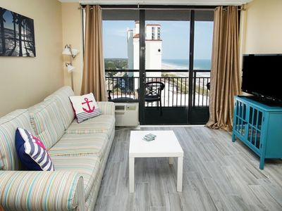 Photo for Patricia Grand 1004 Lovely 1 Bedroom Condo With Ocean view Master Bedroom, Indoor Outdoor Pools, Hot Tub, Lazy River and Kiddie
