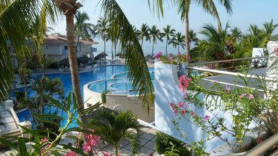 Photo for Beautiful beach front condominium on the mid Pacific Coast of Mexico.