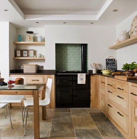 Fowey House Rental   Contemporary Kitchen With Rayburn