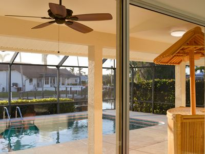 Photo for ON WATER, FABULOUS 2018 Remodel!  BOATERS QUICK OUT! SW Sun on SALT WATER POOL