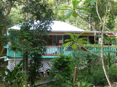 Photo for Peaceful Cottages in the tropical forest of St John in the Virgin Islands