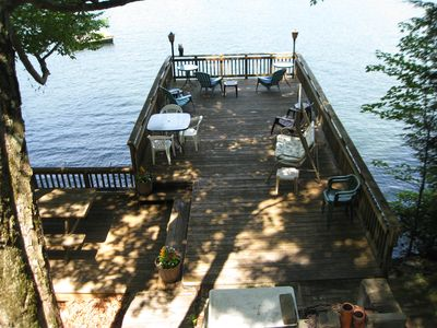 Sun/Shade Deck above boat house