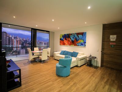 Photo for ★Coolest building Medellin★Apt 1701★Roof Top Infinity Pool★Wrap around Balcony