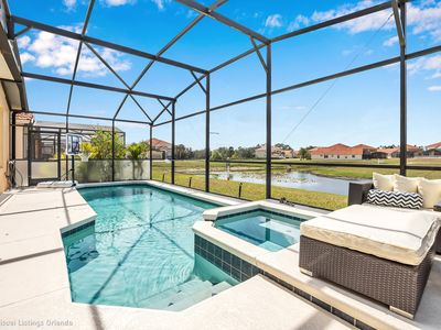 Photo for Luxurious with Stunning Pool. CDC Cleaning. Peaceful LAKE VIEW  #5AV139
