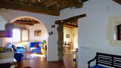Photo for Casa dell'Artista, beautiful medieval house in Tuscan village, stunning views