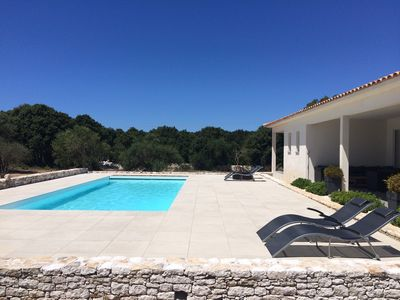 Photo for Beautiful new villa Bonifacio, 10 min beaches, private heated pool