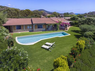 Photo for Chia Magnificent Villa, large private pool, panoramic garden, near the beach
