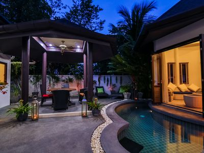 Photo for Tropical Balinese style 3 bedroom villa with pool