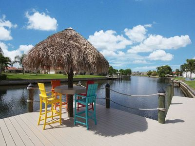 Photo for recently renovated vacation home on a wide salt water canal