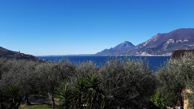 Photo for Luna apartment with wonderful lake and olive trees view